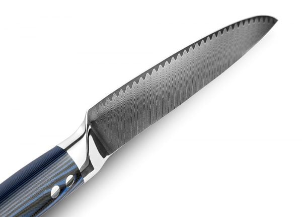 Damascus Chef Knife 8″ Xituo with Micarta Handle 4