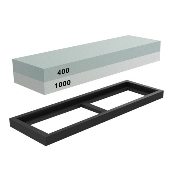 Sharpening Whetstone 400 and 1000 Grit with Rubber Holder 3