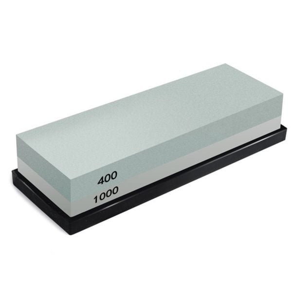 Sharpening Whetstone 400 and 1000 Grit with Rubber Holder 1