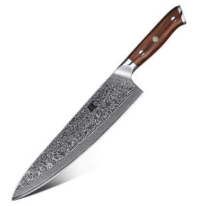 Western Style Chef Knife - Yu Series - 10 Inch - 67-layers Damascus - Featured Product Image