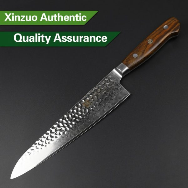 Damascus Chef Knife 8.5″ Xinzuo Yun with Rosewood Handle (USA) 3