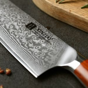 Chef Knife 8-inch Xinzuo Yu with Rosewood Handle - Blade