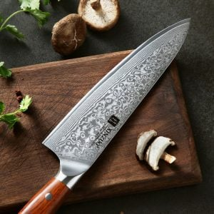 Chef Knife 8-inch Xinzuo Yu with Rosewood Handle - Blade2