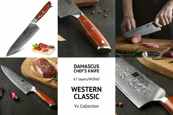 Western Classic Chef Knife – Yu Series – Catalogue Image